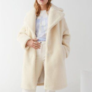 & Other Stories Oversized Faux Shearling Coat US 2